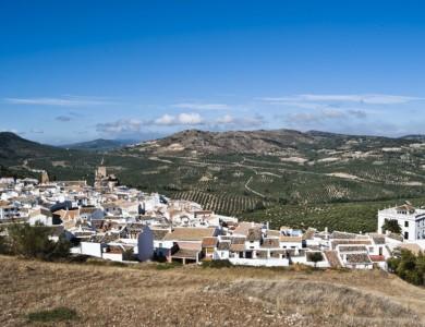 Subbeticas Mountains and white village Zuheros