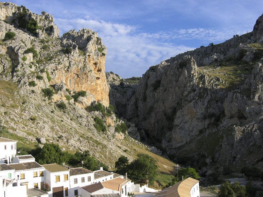 Subbeticas Mountains and white village Zuheros