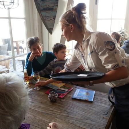 """En el chiringuito """"Zeemeeuw"""" de Noordwijk aan Zee. Holanda"""