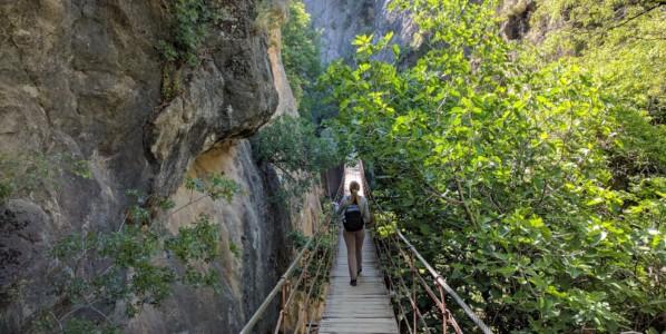 Excursion in Sierra Nevada, Los Cahorros (Granada)