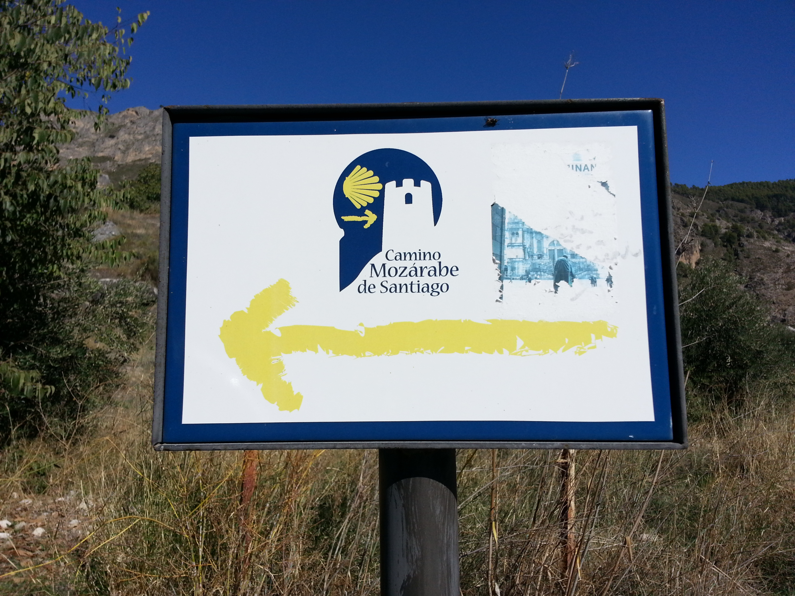 Camino Mozarabe Sign